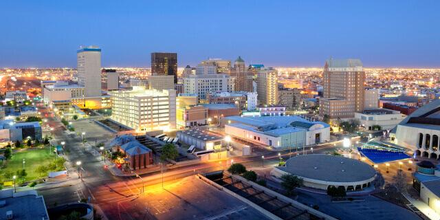 Buildings in downtown El Paso, Texas