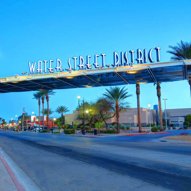 Water Street District sign in Henderson, Nevada