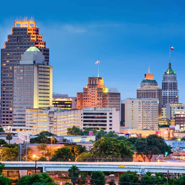 Skyline in downtown San Antonio, Texas