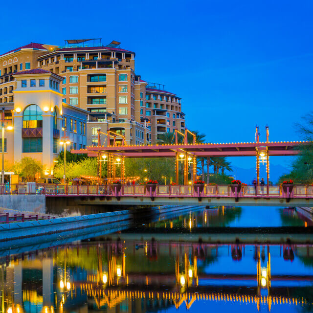 Scottsdale, Arizona bridge and building