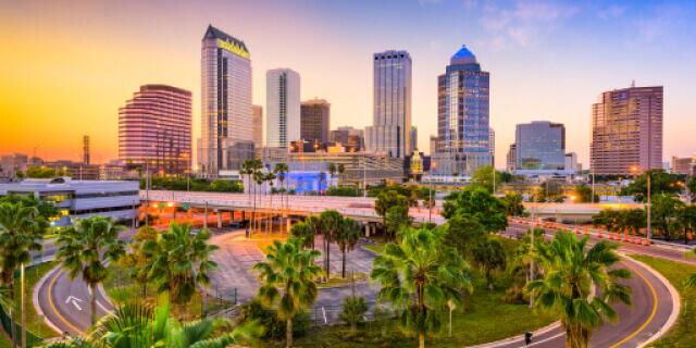 Panoramic view of Tampa skyline