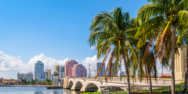 Bridge in West Palm Beach Florida